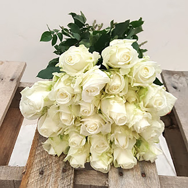 White Roses Grower Bunches