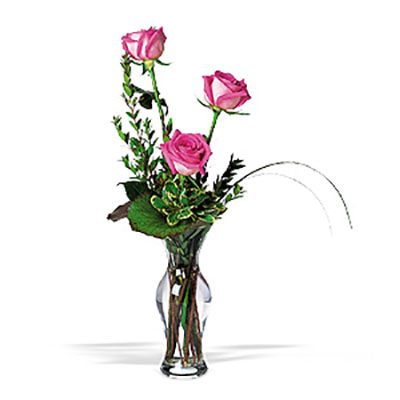 WW-237 Pink Rose Bud Vase