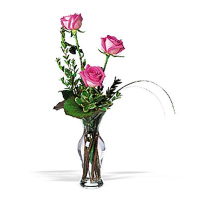 WW-237 Pink Rose Bud Vase