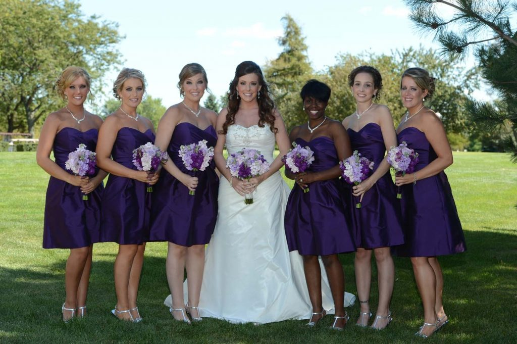 Lavender and purple wedding flowers
