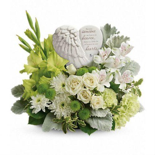 Funeral angel flowers aurora montgomery naperville